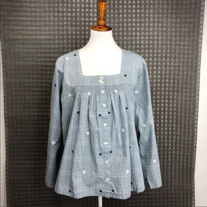 Madewell Button Down Blouse Top 2X   AA25